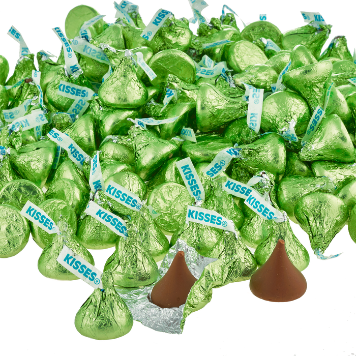 Image of KISSES Milk Chocolates in Kiwi Green Foils - 4.16 lbs. [4.16 lb. bag] Packaging