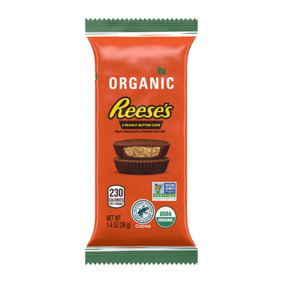 REESE'S Organic Milk Chocolate Peanut Butter Cups, 1.4 oz