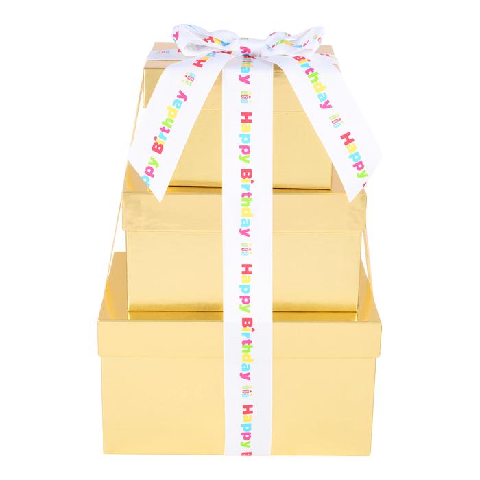 Image of HERSHEY'S Three-Box Chocolate Birthday Gift Tower Packaging