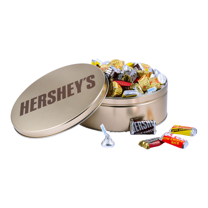 Image of HERSHEY'S Gold Tin Mix, 2 lbs., 2 lbs. tin Packaging