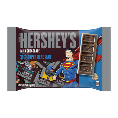 HERSHEY'S Milk Chocolate DC Super Hero Bar Assortment, 9.45 oz