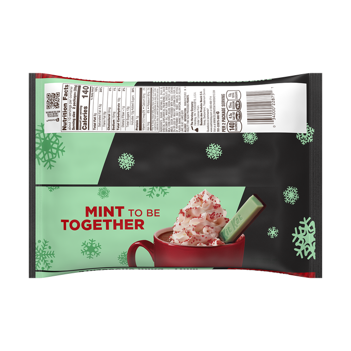 Image of KIT KAT® DUOS Crisp Wafers in Mint Creme + Dark Chocolate Snack Size, 9.8 oz. Packaging