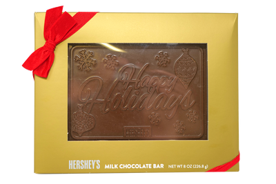 HERSHEY'S Holiday Moulded Milk Chocolate Bar, 8 oz.