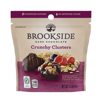 BROOKSIDE Dark Chocolate Crunchy Clusters Berry Medley Fruit Flavors - 2.5 oz.