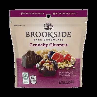 BROOKSIDE Dark Chocolate Crunchy Clusters Berry Medley Fruit Flavors - 2.5 oz.