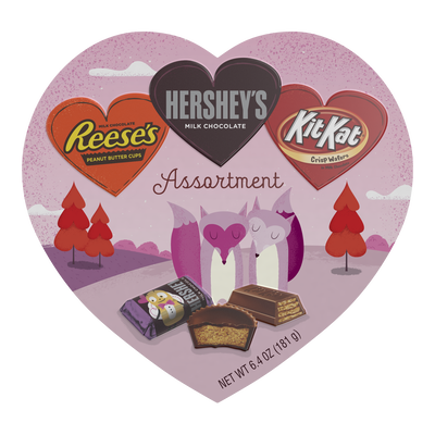 Valentine's Assortment Box with HERSHEY'S, KIT KAT® and REESE'S Hearts, 7.1 oz.