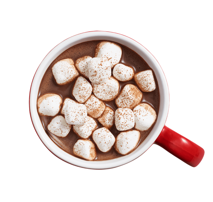 Image of Holiday KISSES Hot Cocoa with Marshmallow Flavored Crème Milk Chocolates, 10 oz. [10 oz. bag] Packaging