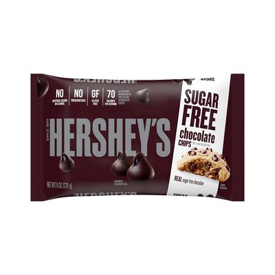 HERSHEY'S Sugar Free Baking Chips, 8 oz. Bag