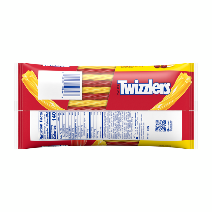Image of TWIZZLERS Sweet and Sour Filled Twists in Cherry and Citrus Punch Flavors Packaging