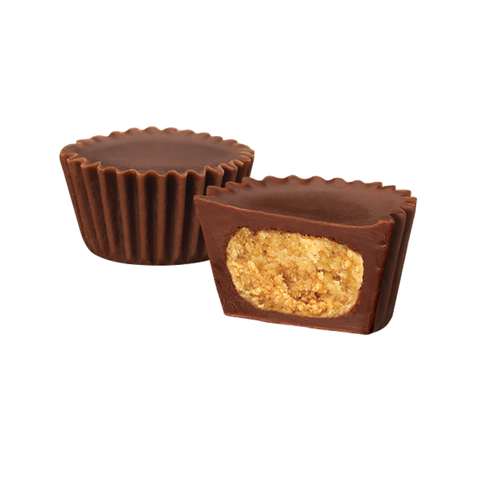 Image of REESE'S Zero Sugar Miniatures Chocolate Candy Peanut Butter Cups, 5.1 oz bag Packaging