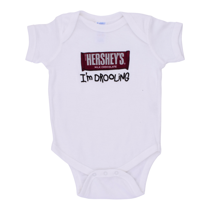 """Image of HERSHEY'S """"I'm Drooling"""" Bodysuit Packaging"""