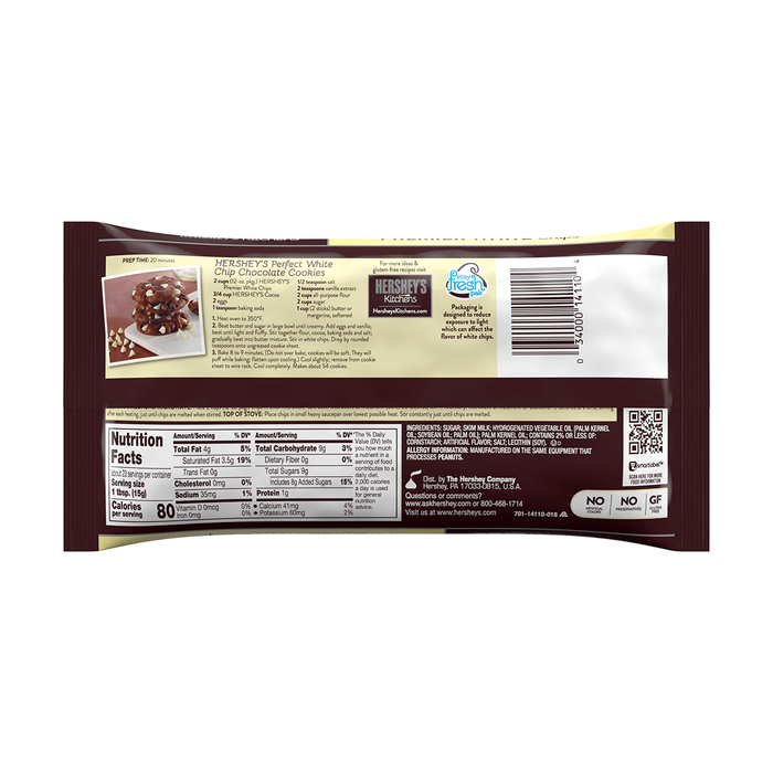 Image of HERSHEY'S Premier White Creme Chips, 12 oz. Bag Packaging