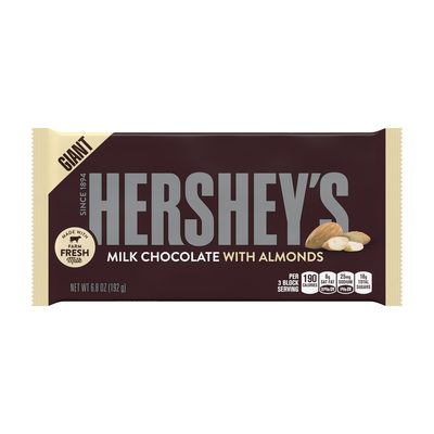 HERSHEY'S Milk Chocolate with Almonds Giant (6.8 oz.) Bar