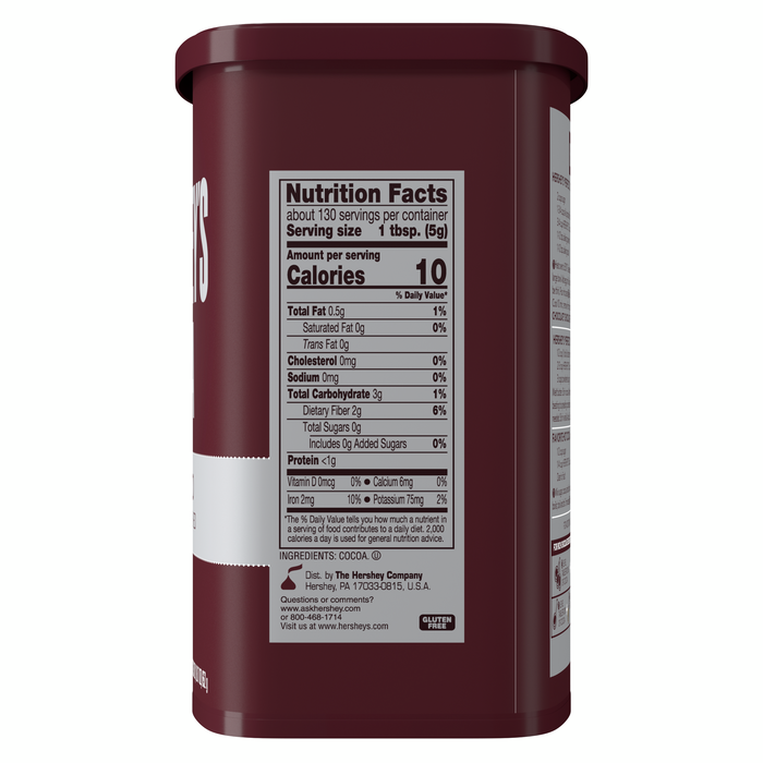 Image of HERSHEY'S Natural Unsweetened Cocoa - 8 oz. Packaging