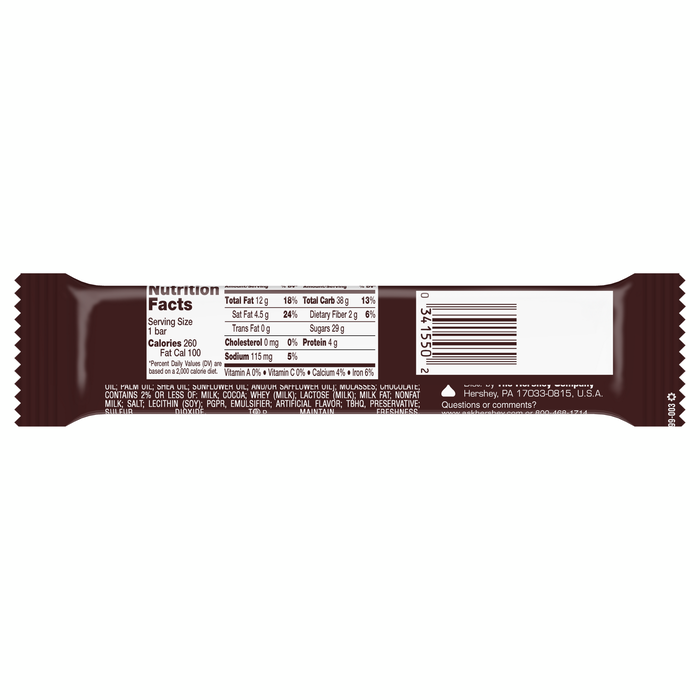 Image of HERSHEY'S 5th AVENUE Standard Bar [18-Pack (18 x 2 oz. bar)] Packaging