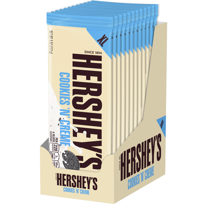 Image of HERSHEY'S COOKIES 'N' CREME Extra Large (4 oz.) Bar Packaging