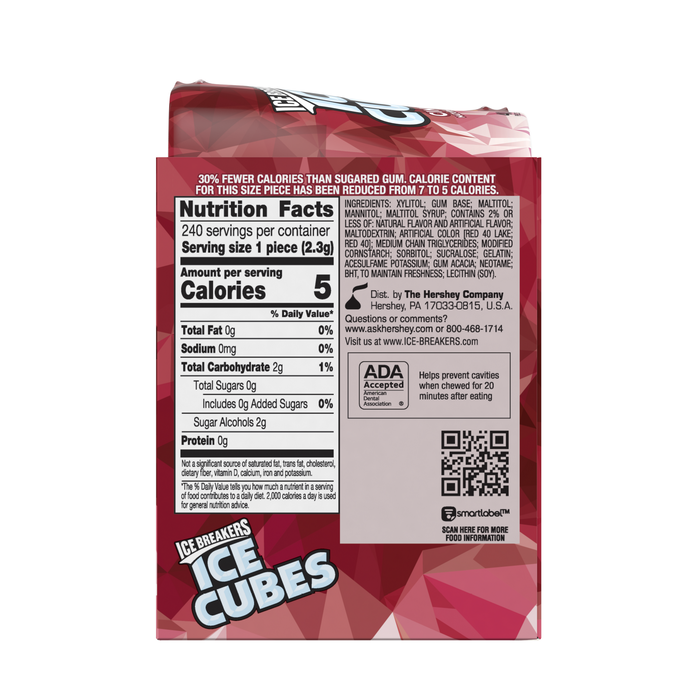 Image of ICE BREAKERS ICE CUBES Cinnamon Gum Packaging