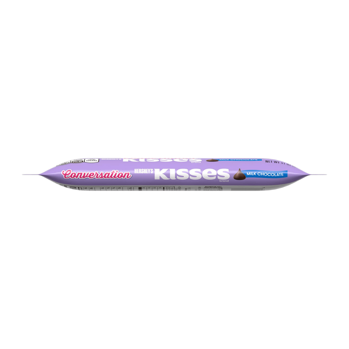 Image of Valentines HERSHEY'S KISSES Conversation Milk Chocolates, 11 oz. [11 oz. bag] Packaging