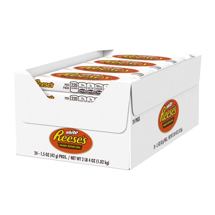 Image of REESE'S White Crème Peanut Butter Cups Packaging