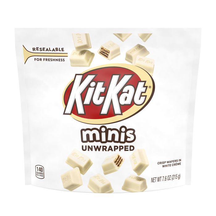 Image of KIT KAT White Minis Crisp Wafers 'n Creme Packaging