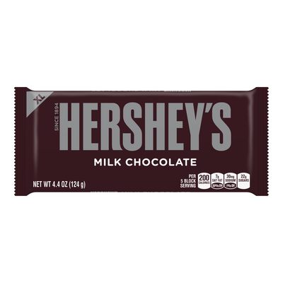 HERSHEY'S Milk Chocolate Extra Large (4.4 oz.) Bar