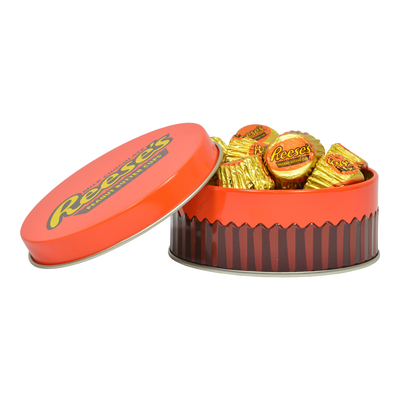 REESE'S Mini Tin Party Favors Filled with REESE'S Peanut Butter Cup Miniatures