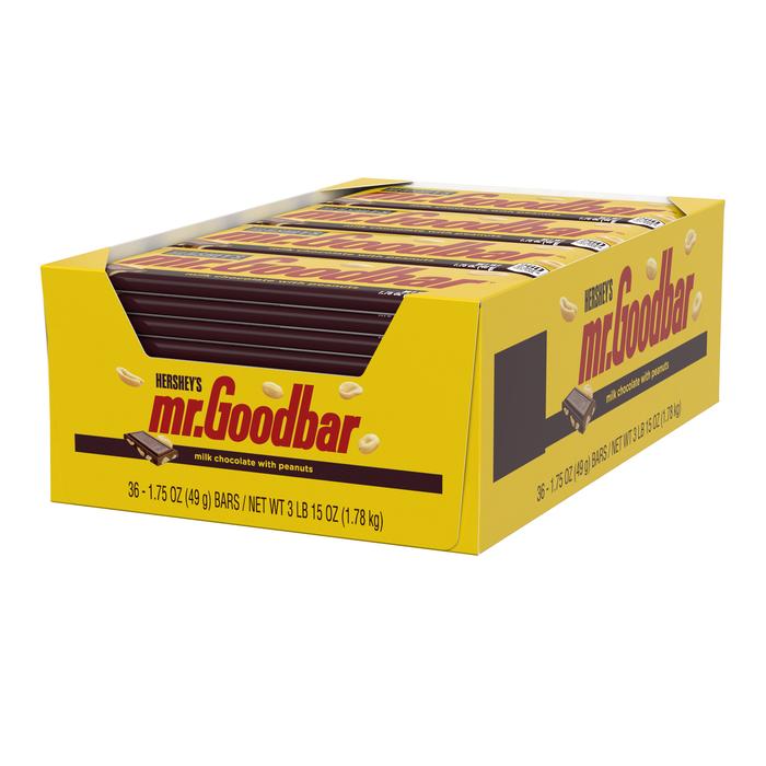 Image of MR. GOODBAR Standard Bar [36-Pack (36 x 1.75 oz. bar)] Packaging
