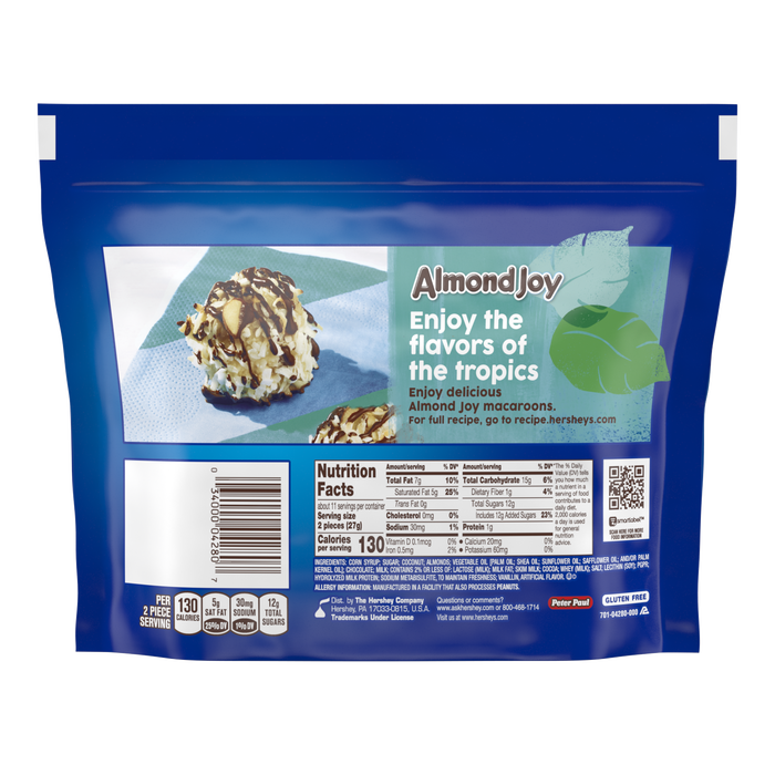 Image of ALMOND JOY Bar Miniatures, 10.2 oz. bag Packaging