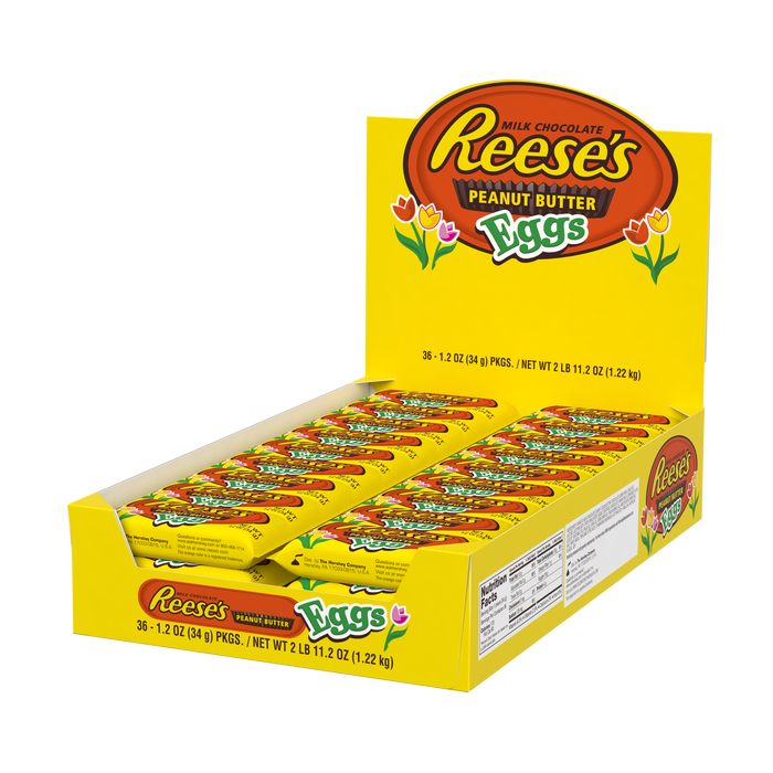 Image of REESE'S Peanut Butter Eggs, 1.2 oz. 36 ct. [36-ct. box] Packaging