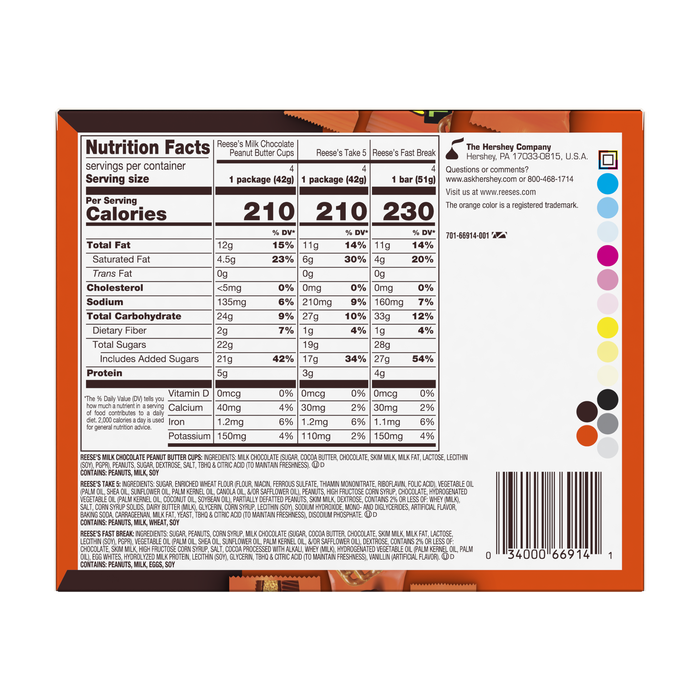 Image of REESE'S Standard Bars Variety 12-Pack Packaging