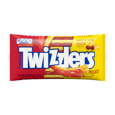TWIZZLERS Sweet and Sour Filled Twists in Cherry and Citrus Punch Flavors