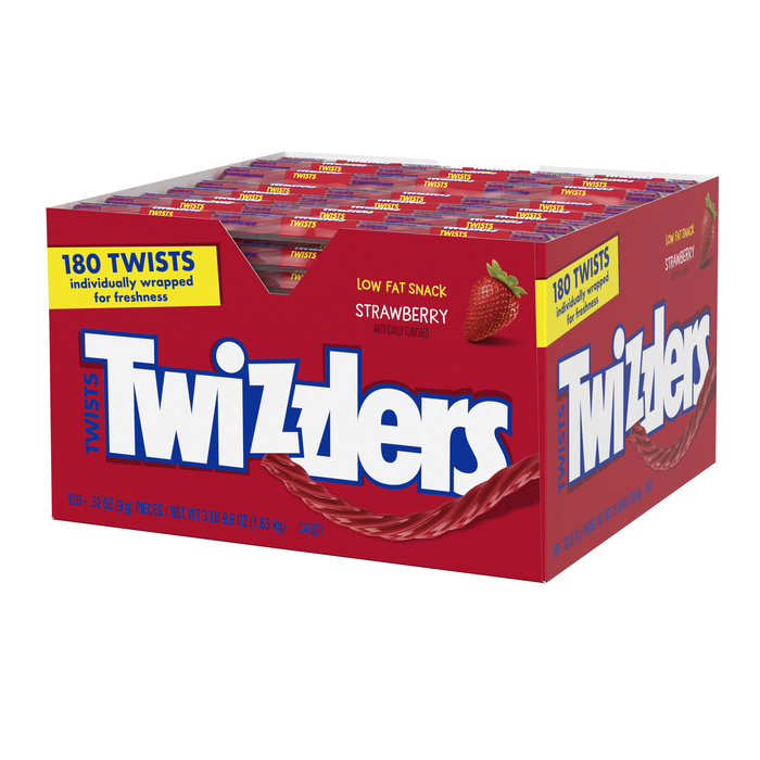Image of TWIZZLERS Strawberry Twists - 180 ct. Packaging