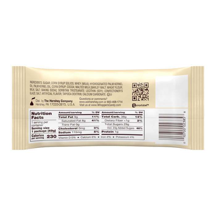 Image of WHOPPERS Malted Milk Balls Standard Box Packaging