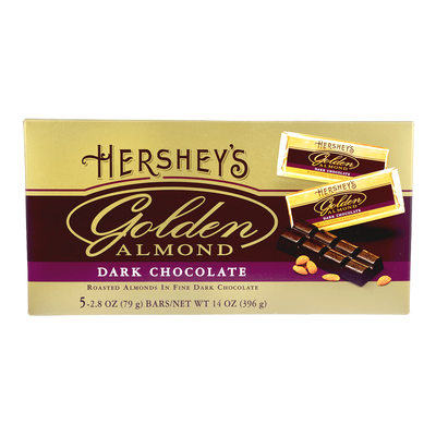 HERSHEY'S GOLDEN ALMOND Dark Chocolate Bar