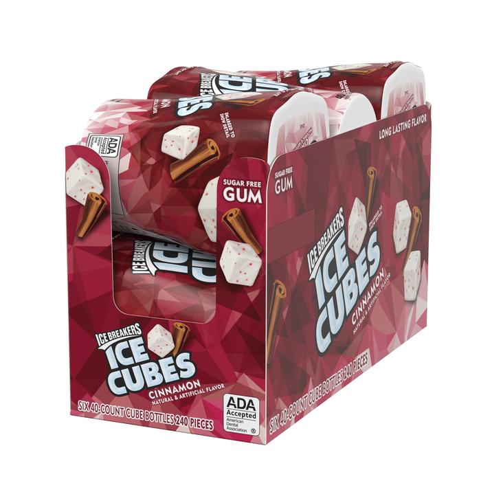 Image of ICE BREAKERS ICE CUBES Cinnamon Gum Packaging