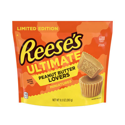REESE'S Miniatures Ultimate Peanut Butter Lovers Peanut Butter Cups, 9.3 oz. bag