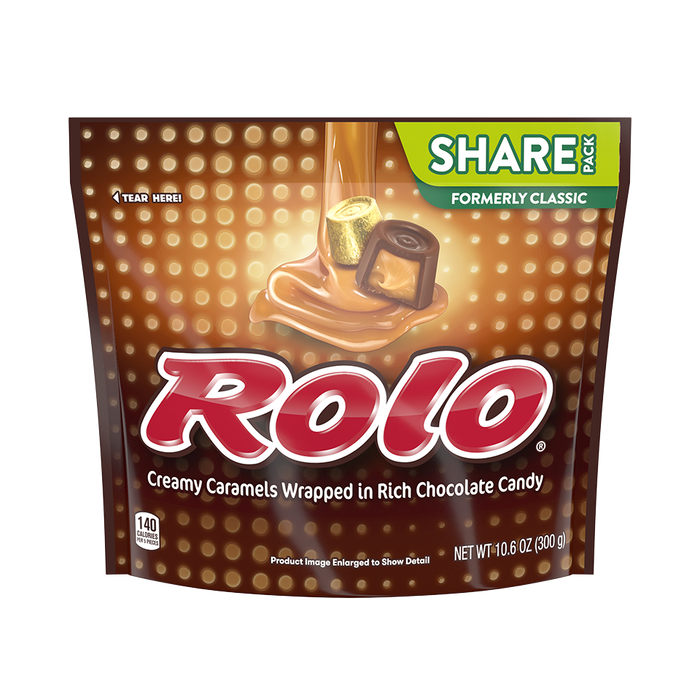Image of ROLO Chewy Caramels in Milk Chocolate (Bag), 10.6 oz. bag Packaging
