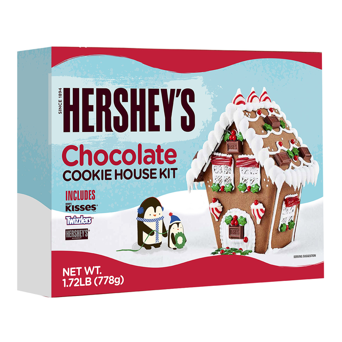 Image of HERSHEY'S KISSES Holiday Cookie House Kit Packaging