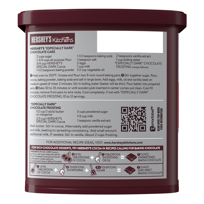 Image of HERSHEY'S Special Dark Cocoa - 8 oz. [8 oz. canister] Packaging