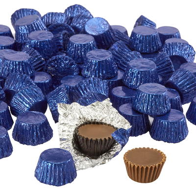 REESE'S Peanut Butter Cups Miniatures in Dark Blue Foils - 4.16 lb. Bag