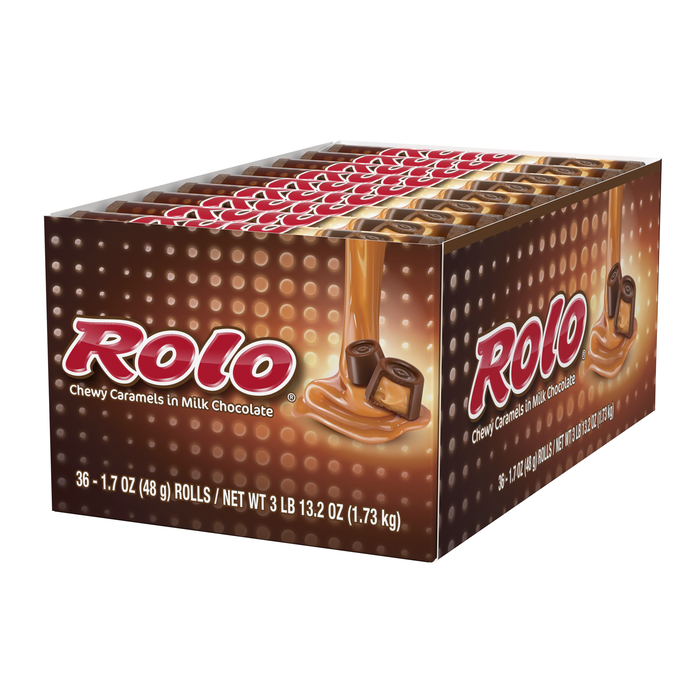 Image of ROLO® Creamy Caramels Wrapped in Rich Chocolate Candy [36-Pack (36 x 1.7 oz. bar)] Packaging