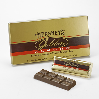 HERSHEY'S GOLDEN ALMOND Bar - 5 bar gift box [14 oz. box]