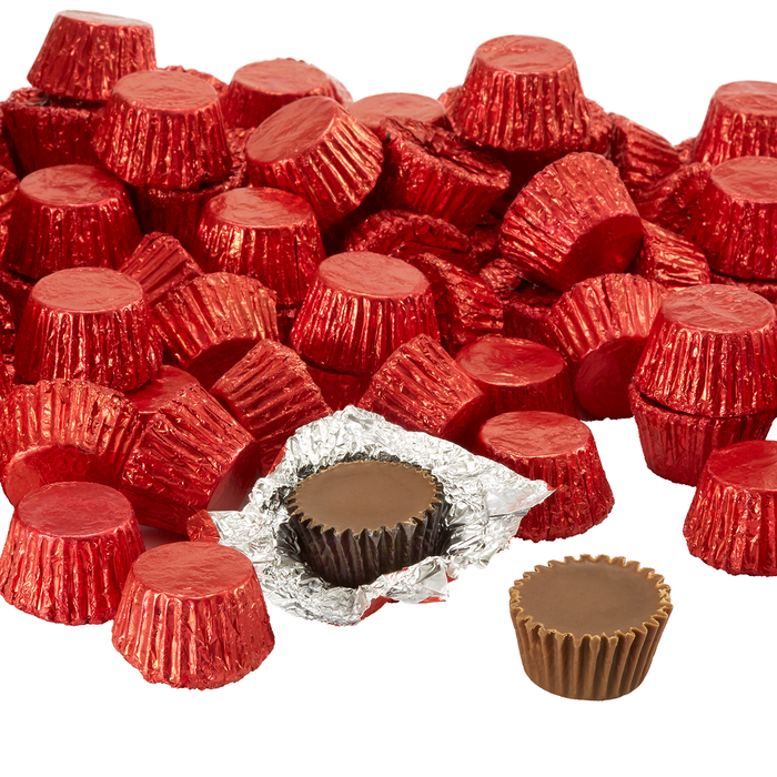Image of REESE'S Peanut Butter Cups Miniatures in Red Foils - 4.16 lb. Bag Packaging