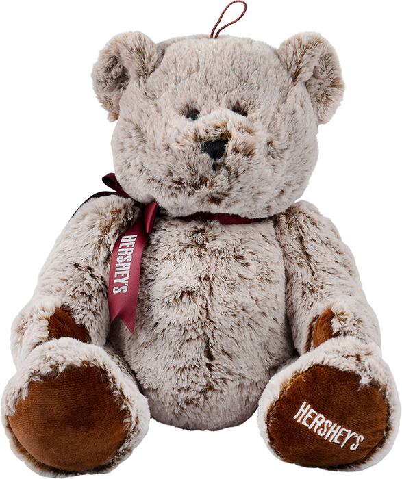 Image of HERSHEY'S Stuffed Bear with Ribbon Packaging