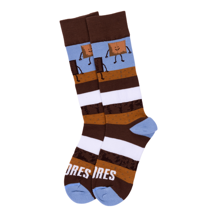 Image of Striped S'mores Socks [Medium] Packaging
