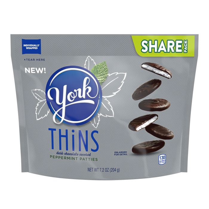 Image of YORK THiNS Peppermint Patties, 7.2 oz Packaging