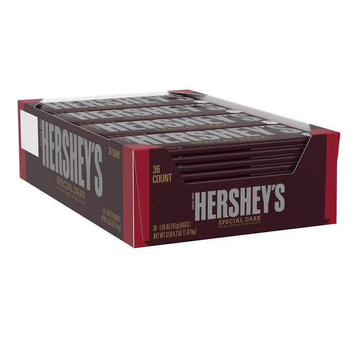 Image of HERSHEY'S SPECIAL DARK Standard Bar (36 ct.) [36-Pack (36 x 1.45 oz. bar)] Packaging