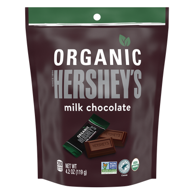 HERSHEY'S Organic Miniatures Milk Chocolate Candy Bars, 4.2 oz. bag