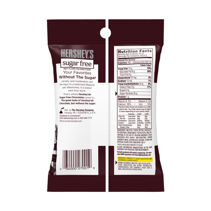 Image of HERSHEY'S Sugar Free Milk Chocolates Packaging