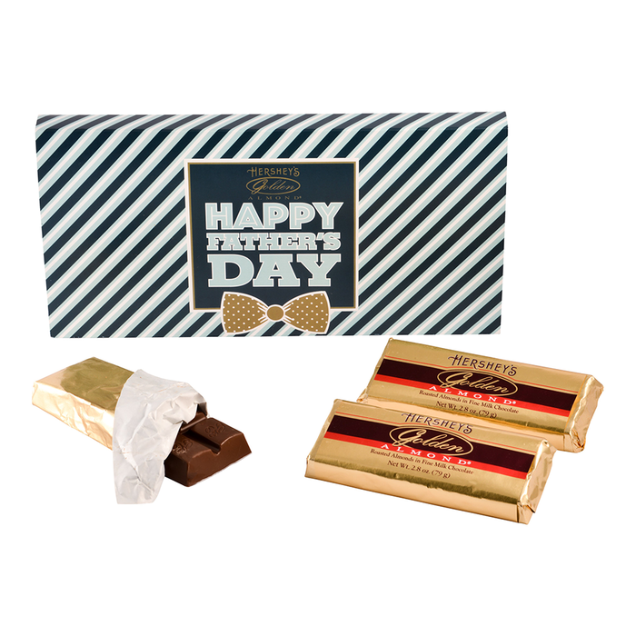 Image of HERSHEY'S Father's Day GOLDEN ALMOND Chocolate Bars Packaging